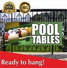 POOL TABLES Banner Vinyl / Mesh Banner Sign Recliners Chairs Sofas Billiards $194.96 USD on eBay