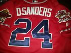 Brand New Atlanta Braves #24 Deion Sanders Majestic WS all sewn Jersey Red Men's on Ebay