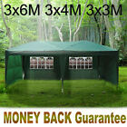 Heavy Duty 3x6 M Fully Waterproof Ip68 Gazebo Weding Party Tent With Sides New