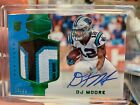2018 DJ Moore Panini Plates & Patches Green Roomie Rc Jersey Patch Auto #/25 SP