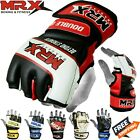 MMA Grappling Gloves Training Punching Boxing Sparring Leather Fight Mitts