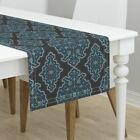 Table Runner Damask Moroccan Turkish Islamic Rug Persian Indian Cotton Sateen