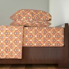 Damask Persian Rug Carpet Cotton Sateen Sheet Set by Roostery image