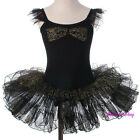 Black Gold Threads Ballet Tutu Dancewear Performance Fairy Dress Size 3T-8 BA055