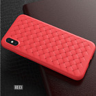 For iPhone XR Plus Woven Soft TPU Silicone Case Cover