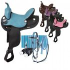 Eclipse by Tough 1 Pony Round Skirt Trail and Competition Saddle 5 Piece Package