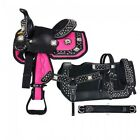 """Eclipse by Tough 1 Pony Trail Saddle Package (Choose Color) 11"""" Seat"""