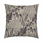 Seaweed Ocean Under The Sea Throw Pillow Cover w Optional Insert by Roostery