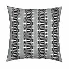 Joan Stripes Black And White Throw Pillow Cover w Optional Insert by Roostery