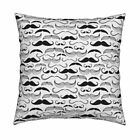 Mustache Hair Gentleman Throw Pillow Cover w Optional Insert by Roostery