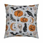 Vintage Halloween Throw Pillow Cover w Optional Insert by Roostery
