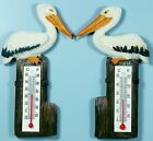 Pair of Pelican Fridge Magnet w Thermometer MAGPEL 9319844269339 Poly Resin NEW