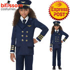 CK1387 Airline Pilot Captain Uniform Child Boys Girls Flight Book Week Costume