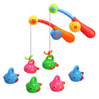 Fajiabao Bath Toys for Kids Bathtub Fun Toys Fishing Game with Cute Spotted Fish