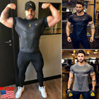 US Men's Sports Gym T-Shirt Bodybuilding Fitness Training Workout Muscle Tee Top image