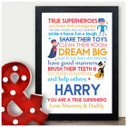 You Are A Super Hero Personalised Birthday Gifts for Boys Son Him Grandson