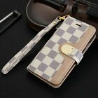 Monogram for phone bifold leather flip Card wallet case s magnetic luxury LV6