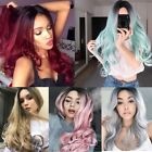 "26"" Synthetic Hair Full Wigs Natural Long Wavy Wig Heat Resistant Multi Color"