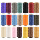 Купить 260M Flat Waxed Thread 150D 0.8mm Polyester Cord For Leather Sewing Stitch Craft