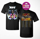 New KISS band T-Shirt End of the Road Farewell Tour 2019 Concert Tee.Full Size. image