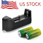 SkyWolfEye 16340 Battery 3.7V 1800mAh Li-Ion Rechargeable Cell CR123A Charger
