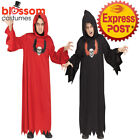 CK1405 Ghoul Robe Boys Skeleton Zombie Halloween Horror Gothic Scary Costume