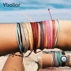 1pc Wax String Multilayer Bracelets Friendship Waterproof Beach Surf Bangles