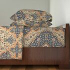 Kilim Islamic Persian Turkish Victorian 100% Cotton Sateen Sheet Set by Roostery image