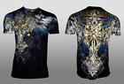 XTREME COUTURE by AFFLICTION Men T-Shirt ENSIGN Biker Black MMA Gym  S-4X $40 image