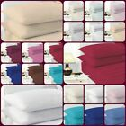 """Luxury Easy Iron Plain Dyed Extra Deep 40CM / 16"""" Fitted Sheet 4 Sizes 18 Colour image"""