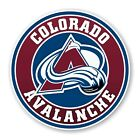 Colorado Avalanche Round Precision Cut Decal / Sticker $3.49 USD on eBay