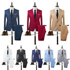 Mens Tuxedos Jackets + Pants Slim Fit Business Formal Groom Wedding Blazer Suits