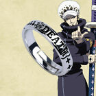 Hot Anime One Piece Luffy Trafalgar Law Ring Sliver Cosplay Gift Adjustable Ring