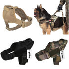 Service Training Dog Vest Tactical Military Police K9 Working Harness w Handle