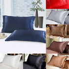 Lithe Queen/Standard Silk Satin Pillow Case Cover Smooth Pillowcase 2 Pieces Set image