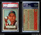 1952 Topps #383 Del Wilber Red Sox PSA 4 - VG/EX