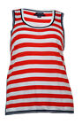 Tommy Hilfiger Women's Scoop Neck Sleeveless Striped Top