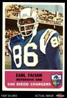 1962 Fleer #87 Earl Faison Chargers EX/MT $36.5 USD on eBay