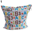 HK- Baby Pro Nappy Reusable Washable Wet Dry Cloth Zipper Waterproof Diaper Bag
