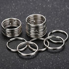 10/30/50pc Stainless Steel Split Key Ring Keychain Jump Rings Round Keyfob 25mm