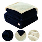 Reversible Thick 3 Layers Microfiber Plush Flannel Fleece Bed Blanket Full Size image