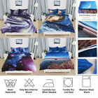 US 3D Galaxy Sky Cosmos Bedding Set Duvet Cover Quilt Cover Set Pillow Cases