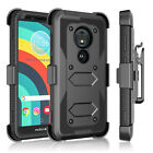 For Motorola Moto E5 / G6 Forge /G6 Play Case With Screen Protector Clip Holster