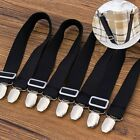 4x Bed Mattress Sheet Blankets Clips Grippers Elastic Straps Suspender Fastener image