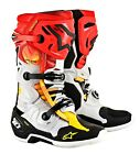 2019 Alpinestar Tech 10 Indianapolis LE Motocross Adult Boots Black Red Yellow