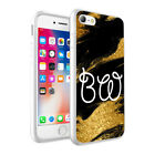 PERSONALISED NAME/INITIALS GLITTER MARBLE CASE FOR IPHONE X XR XS Max 8 7 6- 002