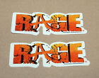 2 x Rage rare Promo Stickers Sticker PlayStation 3 PS3 Xbox 360 Games convention