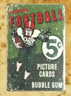US Seller- new bedroom design Topps Football picture cards bubble gum tin sign