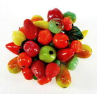 VTG 30'S MIRIAM HASKELL CZECH GLASS FRUIT SALAD BROOCH