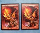 MTG Magic The Gathering FLAME JAVELIN PROMO REWARD X2 LP Fine-, Actual pictures